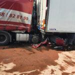 Wypadek ciezarowkwek w Niemczech na autostaradzie